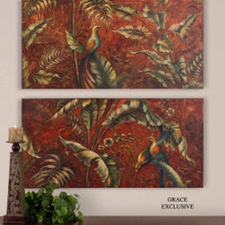 "32183 Hand Painted Art by uttermost - Get 10% discount on your first order. Coupon code: ""houzz"". Order today."