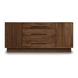 """Copeland Furniture - Copeland Furniture Moduluxe 29"""" 1 Door On Either Side Of 3 Drawer Dresser 4-MOD - Made in Vermont by Copeland Furniture. Individual pieces within the Moduluxe collection can stand alone as stylish contemporary designs or can be arranged in a modular sectional for a semi-built-in configuration."""