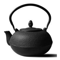 """Tetsubin Teapots - Unity®  """"Hakone"""" Matte Black Tetsubin Teapot/Wood Stove Humidifier.  The  """"Hakone"""" Teapot is an elegant Cast Iron Tetsubin teapot inspired by highly prized Japanese antique teapots still in use today.  Its large 3 liter capacity and robust construction makes it uniquely suited for use as a wood stove humidifier, as well as its traditional use of heating water for tea. The enamel lined interior makes it rust-resistant and easy to clean."""
