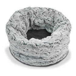 P.L.A.Y. - P.L.A.Y. Snuggle Bed Husky Gray Small - Is it a sleeping bag? Is it a mat? Or is it a bolster bed? How about all of the above! P.L.A.Y.'s new Snuggle Dog and Cat Beds give finicky fur babies the ultimate versatility and comfort in plush beds. Sewn with dirt-resistant canvas on one side and luxurious faux fur on the other, this convertible dog bed can be molded into a variety of shapes and uses, conforming to you and your pet's lifestyle, and offering your pup or kitty a heavenly retreat.  Furniture-grade craftsmanship and even-basting stitching ensures dog-years of use. Made in a facility that meets the strict quality standards for infant and children products. Machine washable and dryer friendly. Momo-approved and tested by her four-legged friends.
