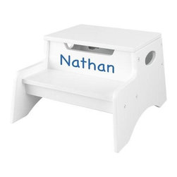 Personalized Step 'n Store Step Stool, White - I am always a sucker for personalization in my spaces. These sweet step stools would be perfect in the bathroom. I love that they are available in a number of colors, and they will personalize them for you.