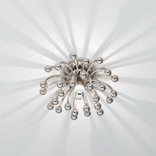 Anemone Chrome Robert Abbey Flushmount Ceiling or Wall Light - EuroStyleLighting