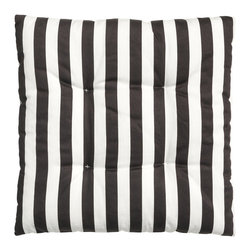 Seat Cushion, Black/Striped - Sometimes you just need new cushions to make an outdoor space feel fresh. I love the classic black and white stripes on these. They're really affordable too.
