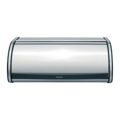 Brabantia Roll Top Bread Bin, Large, Brilliant Steel