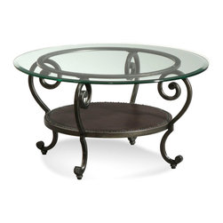 Bassett Mirror Company - Bassett Mirror T2001-120 Dauphine Round Cocktail Table - Round Wrought Iron Cocktail Table belongs to Dauphine Collection by Bassett Mirror Company Bassett Mirror is fluent in this art, showing a terrific contemporary furniture that will satisfy on the one hand fans of home coziness, and on the other hand - seekers of non-standard design solutions also. One of the many strengths of the Bassett Mirror is using high quality materials for perfect embodiment of brilliant design ideas. Cocktail Table (1)