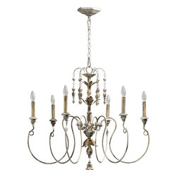 "Quorum International - Quorum 6006-6-70 Salento 32""/6Lt Chandelier -Pw - Quorum 6006-6-70 Salento 32""/6LT Chandelier -Pw"