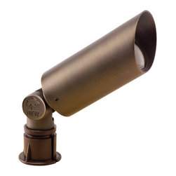 Troy - Natural Antique Bronze Long Cylinder Flood-Light - - Solid die-cast brass luminaire. Large easy to adjust knuckle (can be tightened with a ? hex key). Potted knuckle to limit water and insect intrusion into luminaire. Troy - R-F451B-NAZ