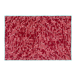Zuzunaga - Bitmap Blanket - New York 2 - Zuzunaga - The Bitmap blanket by Zuzunaga is just that, a bitmap of an urban landscape that has been zoomed in hundreds of times to expose the individual bits of the image. The combination of high tech modernism with traditional hand crafted modes of production create items that bring a sense of the personal to the increasingly digital society we live in. The bright vivid colors of each design are a playful, defiant challenge to the mundane grayness of modern society. The patterns are named for the city scape that has been pixelated. Each Bitmap blanket is knitted using a 3 color jacquard technique for the base and a final color for the fine edge stitching. They are made of 100 percent superfine Italian merino wool in Spain and are a generous 57.5 inches x 83.5 inches in size.