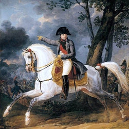 "Carle Vernet Equestrian Portrait of of Emperor Napoleon Print - 16"" x 20"" Carle Vernet Equestrian Portrait of of Emperor Napoleon I premium archival print reproduced to meet museum quality standards. Our museum quality archival prints are produced using high-precision print technology for a more accurate reproduction printed on high quality, heavyweight matte presentation paper with fade-resistant, archival inks. Our progressive business model allows us to offer works of art to you at the best wholesale pricing, significantly less than art gallery prices, affordable to all. This line of artwork is produced with extra white border space (if you choose to have it framed, for your framer to work with to frame properly or utilize a larger mat and/or frame).  We present a comprehensive collection of exceptional art reproductions byCarle Vernet."