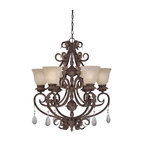 Designers Fountain - Tuscan Six Light Up Lighting Energy Star Chandelier - Bulb Base:Twist and Lock. Bulb Count:6. Bulbs Not Included