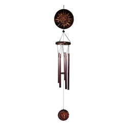 Great World - 37 Inch Sun Metal and Poly Celestial Wind Chime with Sun/Moon Charm - This gorgeous 37 Inch Sun Metal and Poly Celestial Wind Chime with Sun/Moon Charm has the finest details and highest quality you will find anywhere! 37 Inch Sun Metal and Poly Celestial Wind Chime with Sun/Moon Charm is truly remarkable.