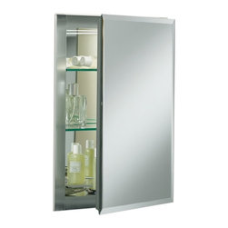 "KOHLER - KOHLER K-CB-CLR1620FS Aluminum Single-Door Cabinet with Square Mirrored Door - KOHLER K-CB-CLR1620FS 16""W x 20""H x 5""D Aluminum Single-Door Cabinet with Square Mirrored Door"