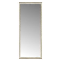 """Posters 2 Prints, LLC - 25"""" x 59"""" Libretto Antique Silver Custom Framed Mirror - 25"""" x 59"""" Custom Framed Mirror made by Posters 2 Prints. Standard glass with unrivaled selection of crafted mirror frames.  Protected with category II safety backing to keep glass fragments together should the mirror be accidentally broken.  Safe arrival guaranteed.  Made in the United States of America"""