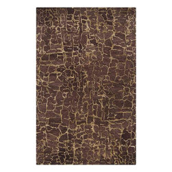 Surya - Banshee Plum Wine Rectangular Area Rug - Striking color and amazing design of Banshee Plum Wine Rectangular Area Rug won't leave anyone indifferent. With its high quality construction, the rug is loomed in 100% wool. The rug has plush pile for maximum softness and gorgeous Plum Wine with Parchment coloring for charm.