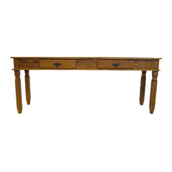 Alexandra Sophia Decor - Goias Console Table - Made out of 100 % reclaimed pink peroba wood from Brazil. A perfect addition to any room in your home.Daily: Use a soft microfiber cloth for dusting and cleaning.