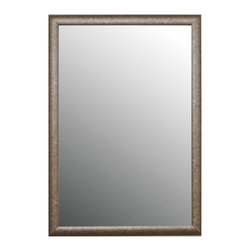 2nd Look Mirrors - Classic Wall Mirror in Silver Finish (24 in. - Choose Size: 24 in. W x 44 in. H (20 lbs.)Two easy to hang vertical hooks. Classic round top frame. Aged soft silver look. 6 in. thick frame. Made from MDF. Made in USA. No assembly required