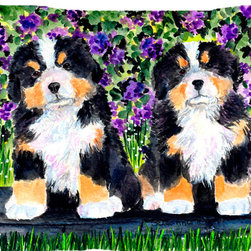 Caroline's Treasures - Bernese Mountain Dog Fabric Standard Pillowcase Moisture Wicking Material - Standard White on back with artwork on the front of the pillowcase, 20.5 in w x 30 in. Nice jersy knit Moisture wicking material that wicks the moisture away from the head like a sports fabric (similar to Nike or Under Armour), breathable performance fabric makes for a nice sleeping experience and shows quality. Wash cold and dry medium. Fabric even gets softer as you wash it. No ironing required.