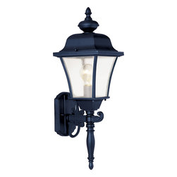 Senator-Outdoor Wall Mount - This One Light Wall Lantern is part of the Senator Collection and has a Black Finish and Seedy Glass. It is Outdoor Capable, and Wet Rated.