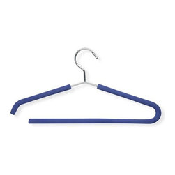 Honey Can Do - Foam Grip Shirt and Pant Hangers - Pack of 2 - Foam grips. Keeps silks. Satins and other fine. 15.5 in. L x 0.45 in. W x 8.5 in. H (0.96 lbs.)Honey-Can-Do HNG-01333 2-Pack Foam Coated Suit Hanger, Chrome/Blue. Truly a full-featured hanger, this versatile, foam-coated hanger is perfect for all your outfits. Thick foam coating is gentle on delicate garments and provides a non-slip surface that holds fabrics beautifully in place. The smart, open-access bottom bar lets you hang pants or skirts quickly and easily.