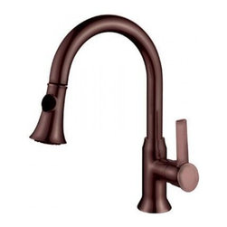 YOSEMITE HOME DECOR - Single Handle Pull-out Kitchen Faucet - Washerless Cartridge Single Handle Pull out Kitchen Faucet with 2Ft flexible hose Brush Nickel Finish No Pop up Drain included