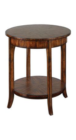 Uttermost - Natural Wood Carmel Lamp Table - Natural Wood Carmel Lamp Table