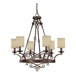 Capital Lighting - Capital Lighting 4166RT-510 Chandelier - Features: Specifications: Requires (6) x 60 Watt Candelabra Base Bulbs (Not Included) Since 1990, Capital Lighting has worked with residential, commercial, hotel and construction clients. Whether you're building a new home or remodeling your existing home, Capital Lighting is ready to help you with your lighting needs.