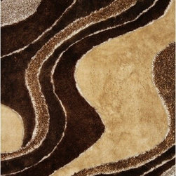 Rug Factory - Shaggy Design 29 Brown 2' x 3' Size Area Rug - Shaggy design 29 brown 2' x 3' size area rug. These shags offer a dense, shed free, easy to clean and sensuously soft surface that is sure to be a toe curling pleaser. Vibrant colors, geometric patterns and designs. are hand tufted using a blend of ultra fine raw materials for a plush and soft feel.