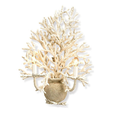 Currey and Company - Seaward Wall Sconce - Sea coral isn't just for beaches. If you get your decorating inspiration from the ocean, this chic wall sconce is just want you need. The organic shape and off white finish are beautifully re-created by hand to form a tranquil piece of art.