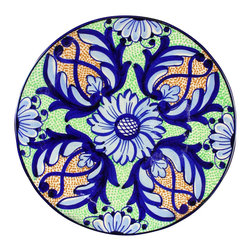 EuroLux Home - Consigned Vintage Plate 1950 Spanish Ceramic Blue - Product Details