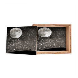 DENY Designs - Shannon Clark Love Under The Stars Storage Box - Love yourself a knickknack or two (or three)? Well, then this is the box for you! The Amber Bamboo wooden Storage Box is available in two sizes with a printed exterior lid and interior bottom. So, you can still be a collector of sorts, but now you've got an organized home for it all. 100% sustainable, eco-friendly flat grain amber bamboo wood box with printed glossy exterior lid and interior bottom. Custom made in the USA for every order.