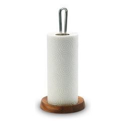 Skagerak - Skagerak - Bollard Paper Towel Holder - An elegant kitchen-roll holder is a rare sight, but this is indeed an apt description of the Bollard Paper towel Holder. The fine detail of the wooden base (a small recess) prevents paper from flapping about on the kitchen worktop.