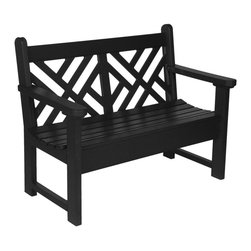 "Eagle One - Eagle One 5 Ft Chippendale Bench - ""The Chippendale is a classic English garden style. Durable for commercial and public outdoor areas, sophisticated for any architectural compliment; environmentally stress resistant, yet suitable for indoor use as well.Dimensions (W x L x D): 64"""" x 40"""" x 44"""" (150 LBS)Material: HDPE Recycled Plastic LumberMade in the USAColor listed is for seat color and not the actual material of the wood"""