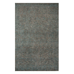 Jaipur Rugs - Hand-Tufted Solid Pattern Wool/ Art Silk Taupe/Blue Area Rug ( 5X8 ) - Subtle intonations of color with viscose adds sheen and luster, while its looped texture adds dimension