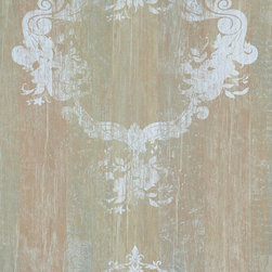 Walls Republic - Serenity Mahagony Wallpaper R1368, Double Roll - Serenity is a faux finish wood pattern with an overlaid distressed damask pattern. This wallpaper is a fusion ofcontemporary and traditional with the perfect touch of elegance for any living room.