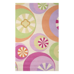Kas - Kids Kidding Around 2'x3' Rectangle Pastel Area Rug - The Kidding Around area rug Collection offers an affordable assortment of Kids stylings. Kidding Around features a blend of natural Pastel color. Hand Tufted of 100% Multi-Textured Wool the Kidding Around Collection is an intriguing compliment to any decor.
