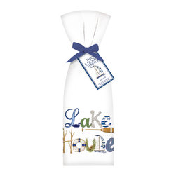 "Mary Lake- Thompson Ltd. - Lake House Towel Set - - Set of two flour sack towels- Towel comes with matching ribbon and tag- Great for drying dishes and cleaning up!- Towel 30"" x 30"" featuring beautiful design by artist Mary Lake-Thompson."