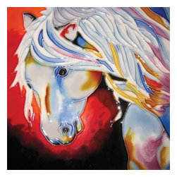 Westland - 8 x 8 Inch Beauty The Noble Horse Spirit Looking Down Tile - This gorgeous 8 x 8 Inch Beauty The Noble Horse Spirit Looking Down Tile has the finest details and highest quality you will find anywhere! 8 x 8 Inch Beauty The Noble Horse Spirit Looking Down Tile is truly remarkable.
