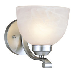 Minka Lavery - Minka Lavery 5421-84 Paradox 1 Light Wall Sconce - Brushed Nickel Finish