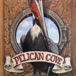 """Pelican - 29 1/2"""" X 451/2"""", acrylic on wood"""