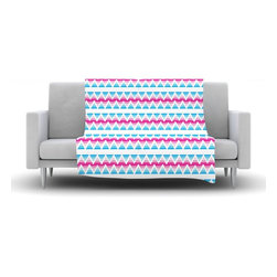 """Kess InHouse - Apple Kaur Designs """"Swimming Pool Tiles"""" Blue Pink Fleece Blanket (90"""" x 90"""") - Now you can be warm AND cool, which isn't possible with a snuggie. This completely custom and one-of-a-kind Kess InHouse Fleece Throw Blanket is the perfect accent to your couch! This fleece will add so much flare draped on your sofa or draped on you. Also this fleece actually loves being washed, as it's machine washable with no image fading."""