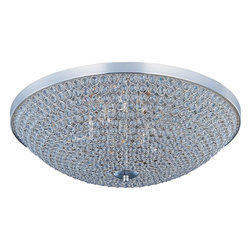 Maxim Lighting - Maxim Lighting Glimmer 6-Light Flush Mount Ceiling Light - From the Glimmer Collection, this Maxim Lighting flush mount ceiling light features a stunning design made up of dozens upon dozens of small circular rings. The beveled crystal accents create a dazzling light while the rings come finished in your choice of either a Plated Silver or Bronze, both of which add to the overall appeal of this eye-catching design.