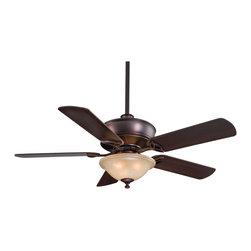 "Minka Aire - Traditional 52"" Minka Bolo Dark Brushed Bronze With Light Ceiling Fan - A smooth blend of finish and form distinguishes the Bolo ceiling fan by Minka Aire from the rest. This simple and elegant ceiling fan is enhanced by subtle design elements and details. The motor features a dark brushed bronze finish and matched with dark maple blades.(UM) Dark brushed bronze motor finish. Dark maple blades. Lifetime motor warranty. Remote control included. Avorio Mezzo glass light kit. Includes three 60 watt candelabra bulbs. Fan height 11-3/8"" ceiling to blade (with 3-1/2"" downrod. Fan height 20"" ceiling to bottom of light kit (with 3-1/2"" downrod). 3-1/2"" and 6"" downrods included. 52"" blade span. 14 degree blade pitch.  Dark brushed bronze motor finish.   Dark maple blades.   Lifetime motor warranty.   Remote control included.  Avorio Mezzo glass light kit.  Includes three 60 watt candelabra bulbs.   Fan height 11-3/8"" ceiling to blade (with 3-1/2"" downrod).  Fan height 20"" ceiling to bottom of light kit (with 3-1/2"" downrod).  3-1/2"" and 6"" downrods included.  52"" blade span.   14 degree blade pitch."
