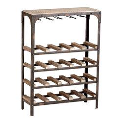 Cyan Design - Gallatin Wine Rack - Gallatin wine rack - raw iron and natural wood