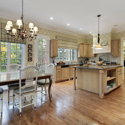 KITCHEN & DINING ROOM Custom Curtains, Drapes & Roman Shades - Design your own custom curtains, drapes or roman shades for your living room with your choice of over 2000 distinctive fabrics, modern styles, and multiple options.