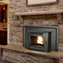 """Enviro 30'' x 25'' Milan Series Pellet Fireplace Insert - Only extends 8.4"""" onto hearth"""