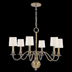 Hudson Valley - 6 Light ChandelierCohasset Collection - Slender arms, sveltely curved, simplify this colonial classic.  Cohasset's sensual form is welcome flair for an otherwise understated interior.  As Old World refinement adapted to the new frontier, Cohasset transposes a treasured look to today's less rigi