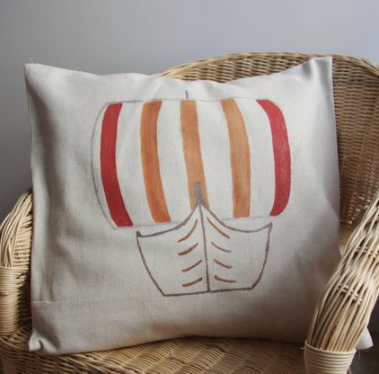 Beach Style Decorative Pillows by Etsy