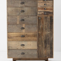 Eiko Cabinet - This gorgeous driftwood armoire is fabulous! I love everything about it: the lines, the wood grain and the size.