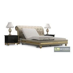 Fiore Tufted Royale Baroque Gold Bed -
