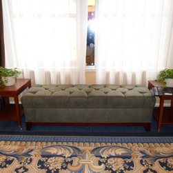 Residential Benches - A custom tufted bench we fabricated for this window setting.
